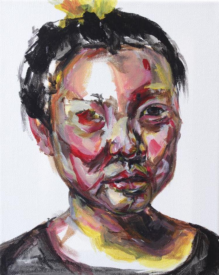 """The Good Girl . Acrylic on Canvas. 8"""" x 10"""""""