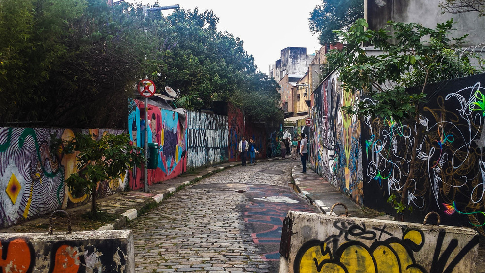 Batman Alley in Vila Madalena. Brazil has walls full of street art.