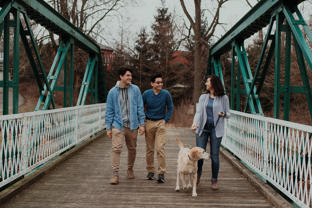 I don't do many family sessions in the colder seasons, but these guys were so cute with their pup!