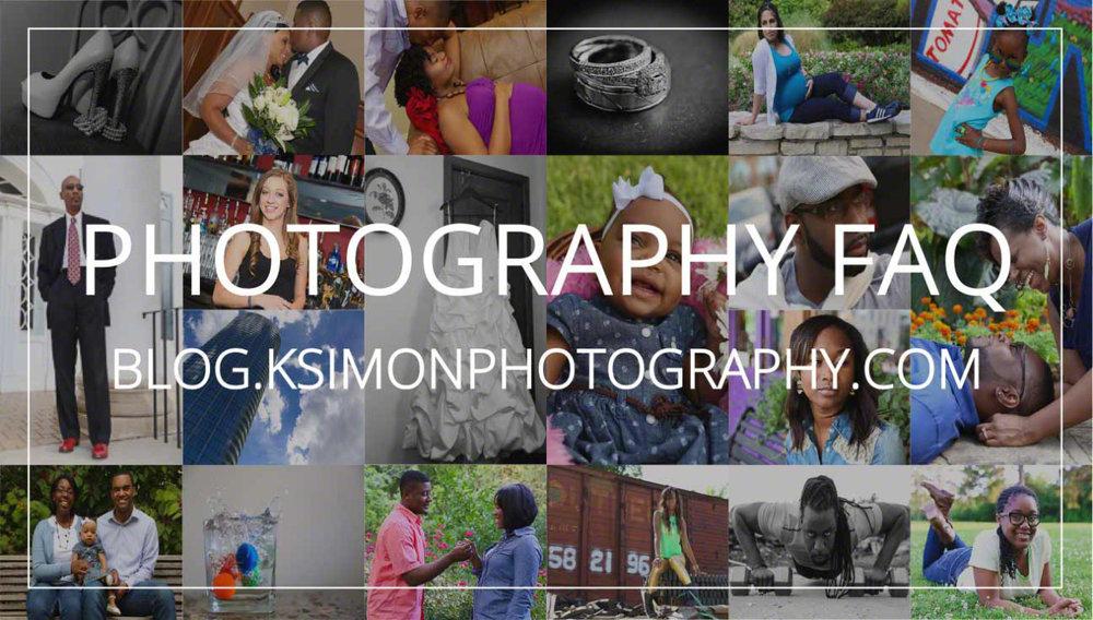 PHOTOGRAPHY FAQ — Blog | KSimon Photography