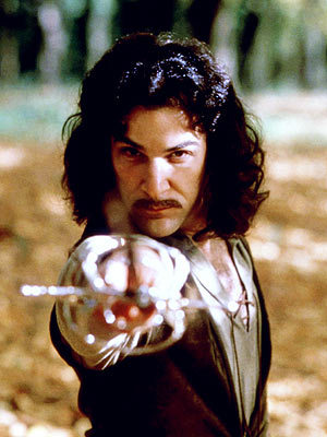 "The Princess Bride (1987) is one of my favorite movies. Such a classic love story. Inigo Montoya was the man! Lol!   ""Hello, my name is Inigo Montoya. You killed my father. Prepare to die."""