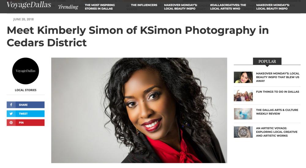 KSimon Photography Featured in Voyage Dallas Magazine - June 2018 | Atlanta + Dallas Lifestyle, Fashion & Business Portrait Studio and Outdoor Photographer | ksimonphotography.com | © KSimon Photography, LLC