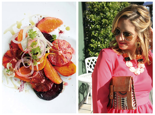 Pink-Dress-citrus-salad-fashion-meets-food