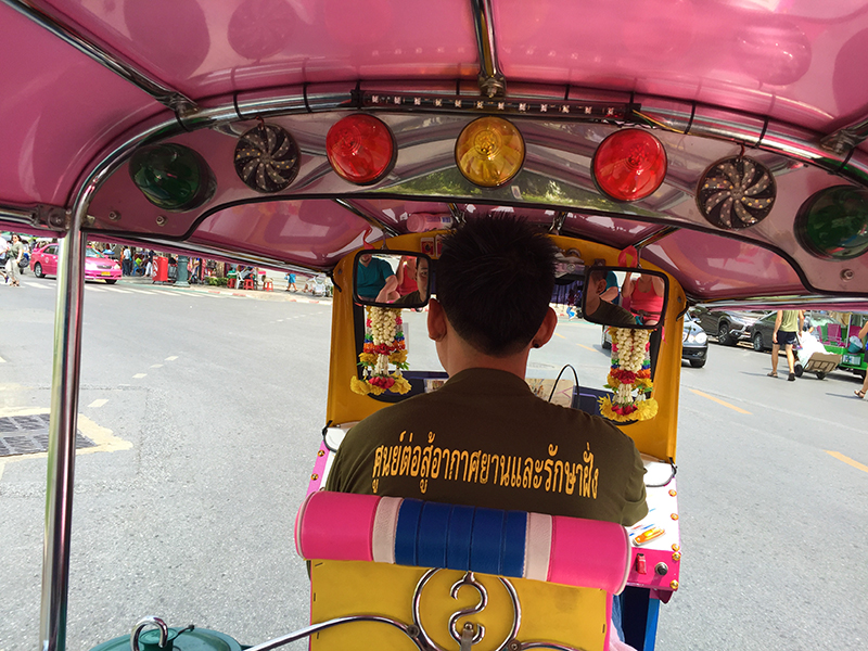 The Pink Pony Tuk Tuk. In route to Khao San Road