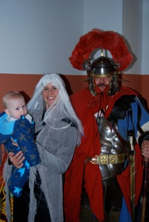 Toby and Sarah the Hag meeting Mr Roman Soldier