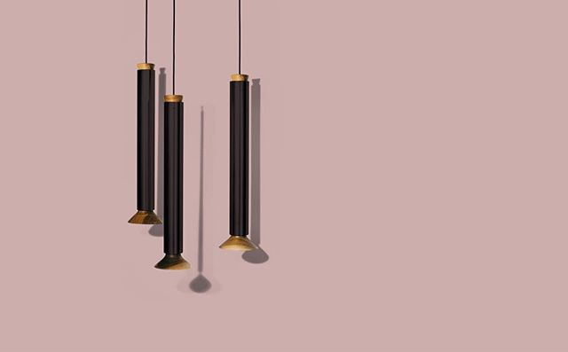 Some say three's a crowd. We beg to differ 💡💡💡 | Conduit Pendant pictured in soft black, also available in brass and copper finish