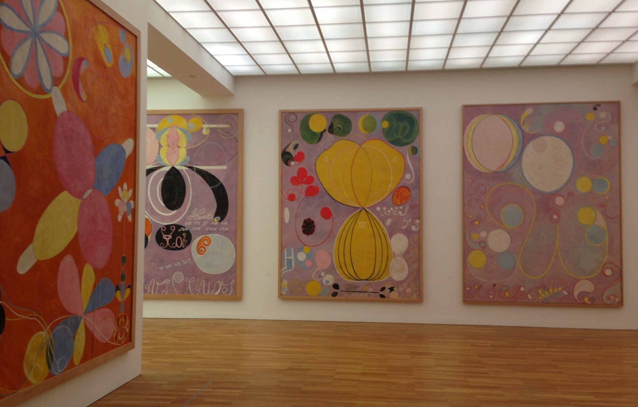 One of my favorite exhibitions from last year:  Hilma af Klint at the Hamburger Bahnhof Museum