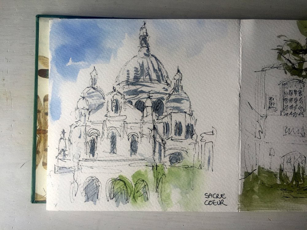 Paris Montmartre Sacre Coeur Church watercolor.jpg