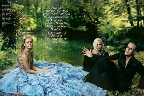 Donatella Versace and Rupert Everett (the Mock Turtle and the Gryphon).jpg