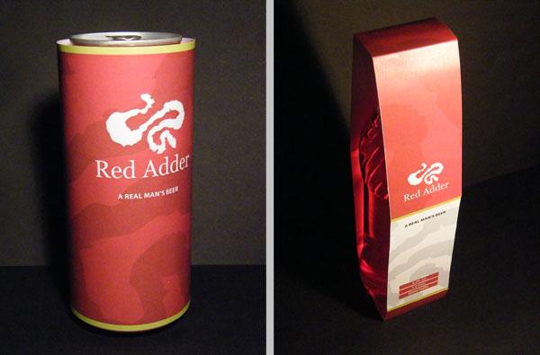 Red Adder branding for beer by Andrew Talbot