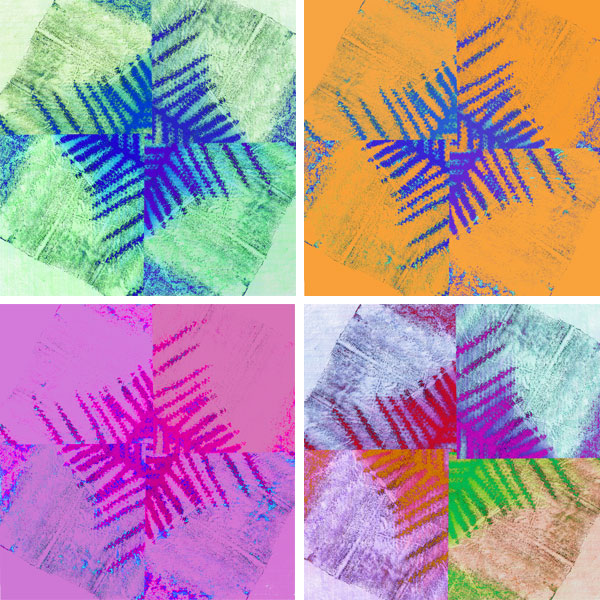 Ferns: printmaking and colour experimentation by Angela Lastinger