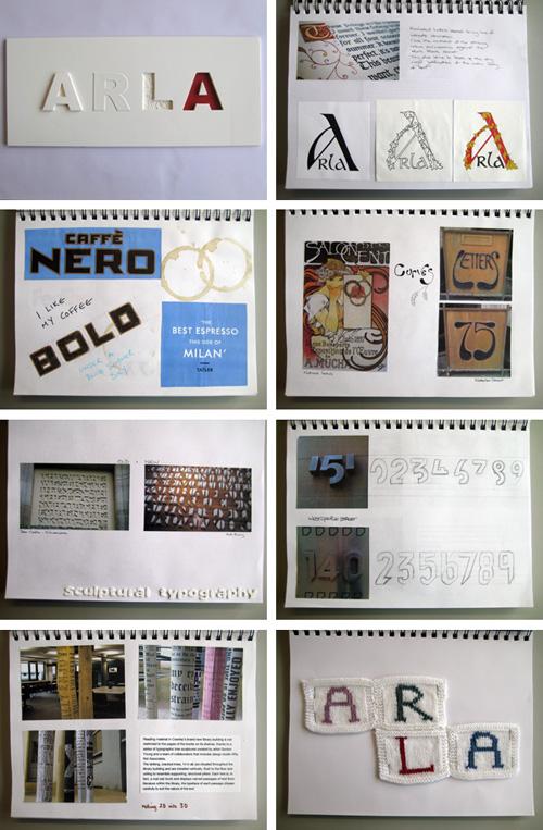 Typography Sketchbook by Arla Kean