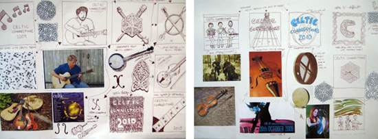 Andy Rogerson's poster designs for Celtic Connections