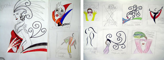 Malgorzata Dullek's poster designs for London Fashion Week