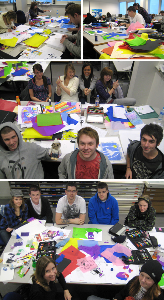NQ students with lecturer Michelle Hone (at left in photo above)