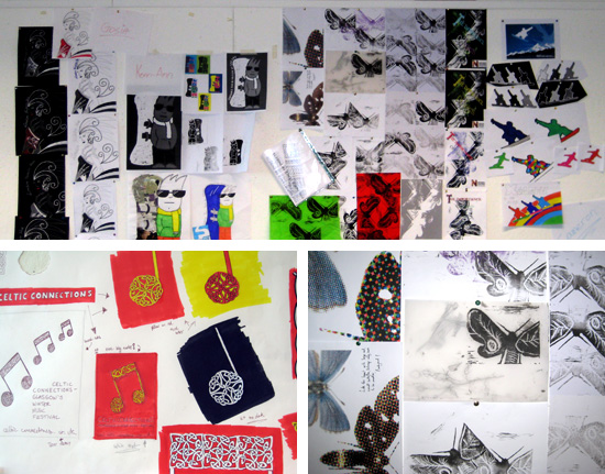 Work by Malgorzata Dullek, Kerri-Ann Steel, Bryan Gallacher, Cameron McCaig, Andy Rogerson