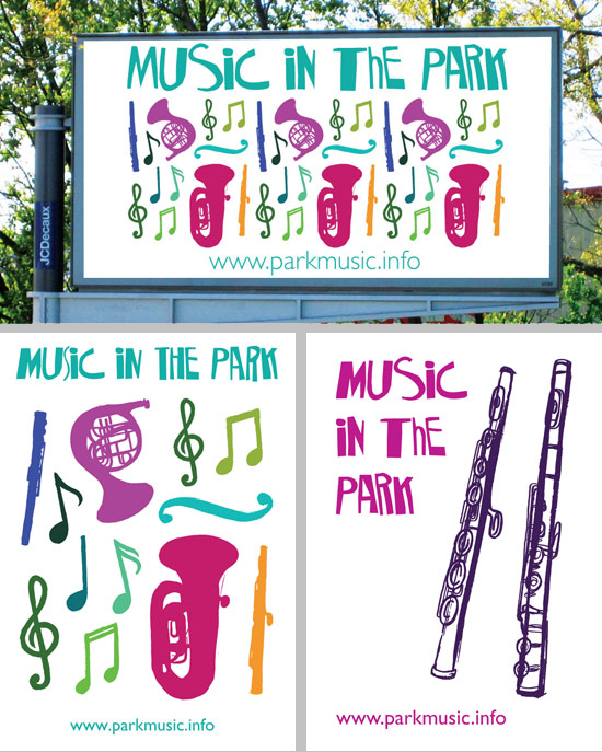 Emma Stewart's promotion for Music in the Park
