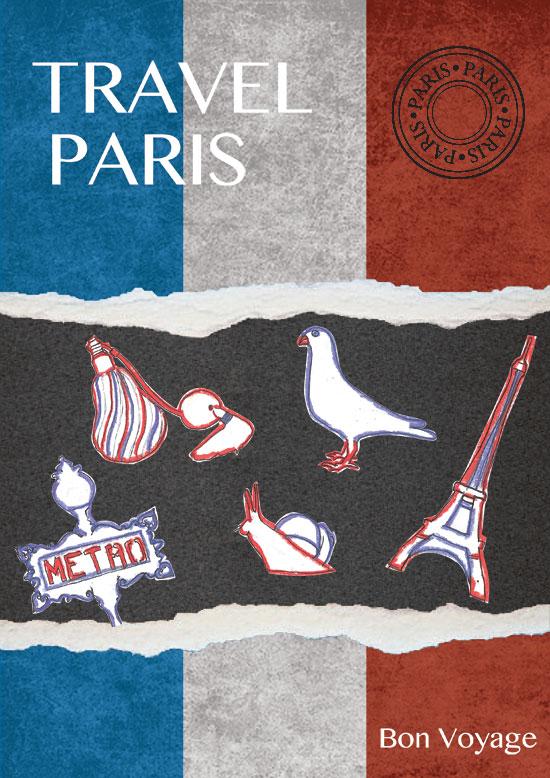 Paris travel guide, designed by Anita Graszka