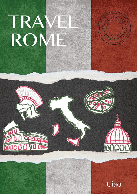 Rome travel guide, designed by Anita Graszka