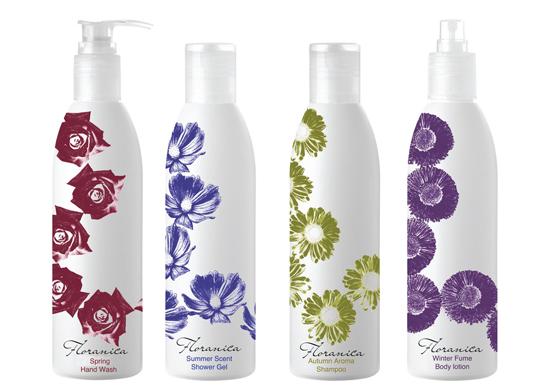 Packaging for a range of bath products, by Anna Dawidowska