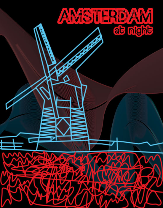 Amsterdam travel guide, designed by Claire Liddell