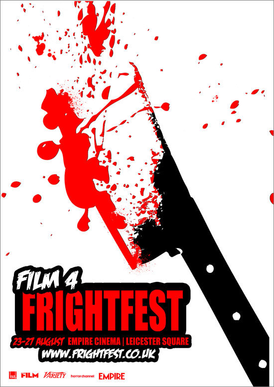 Promotion for a film frightfest, by Kirsty Clark