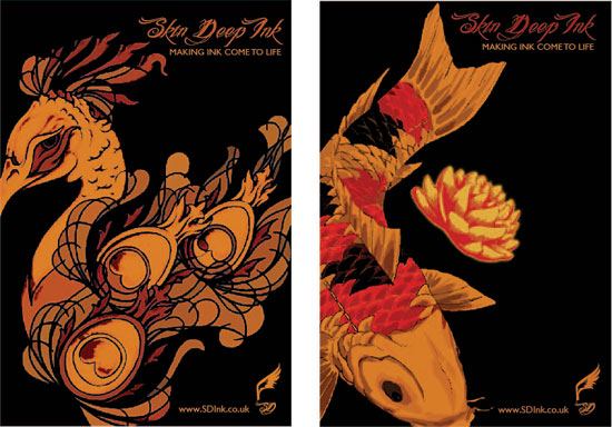 Branding and promotion for tattoo inks, by Laura Nicholson