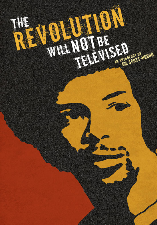 Book cover for poems by Gil Scott Heron, designed by Martin Cameron
