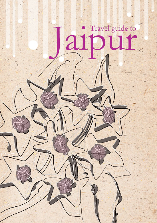 Jaipur travel guide, designed by Mika Holmes