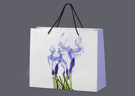 Gift bag for bath products, by Sara Tellez