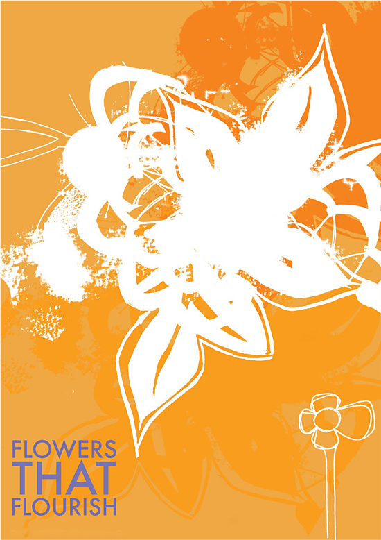 identity for a florist, designed by Gareth Lindsay