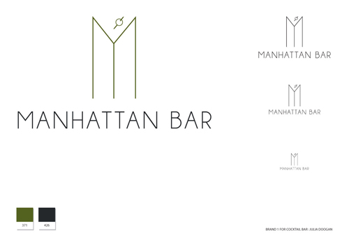Brand 1 for a Cocktail Bar by Julia Doogan