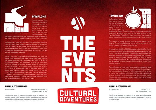Cultural Adventures leaflet by Steven McFarlane