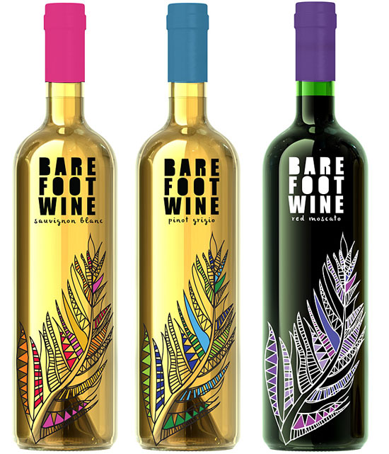 Barefoot Wine rebranding by Victoria Donnelly