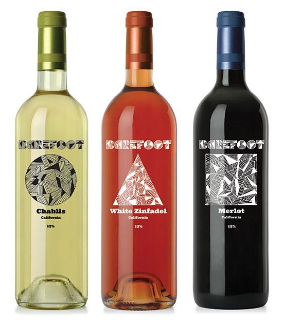 Barefoot Wine rebranding by Dominic D'Sylva