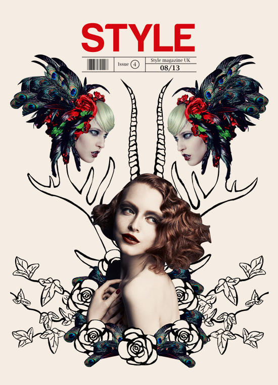 Cover for Style Magazine designed by Rebecca Prasher