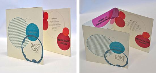 Barefoot Wine drinks card by Alice Leach