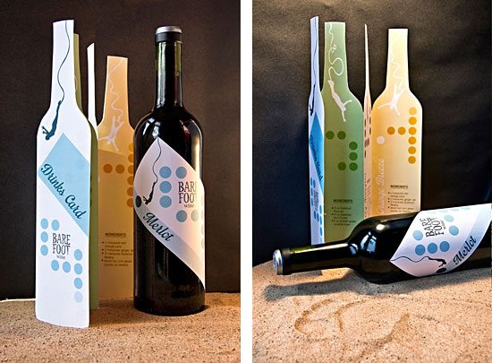 Barefoot Wine rebranding by Anita Graszka