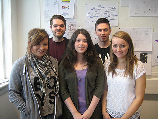 Laura, Chris, Rachel, George and Stacey