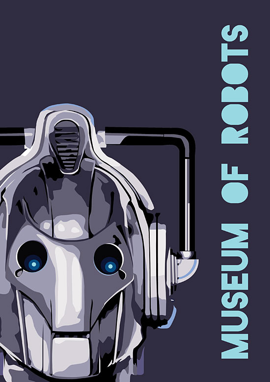 Robot Museum vector poster by Andrew Hankinson