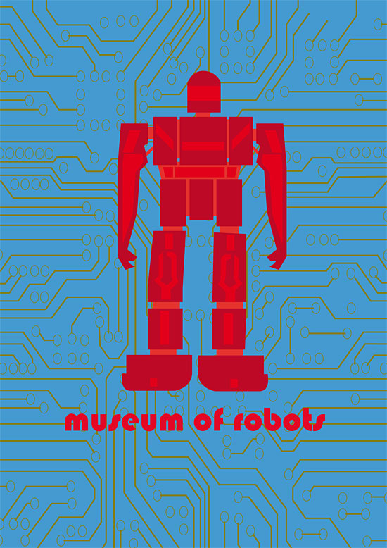 Robot Museum vector poster by Christopher Gray