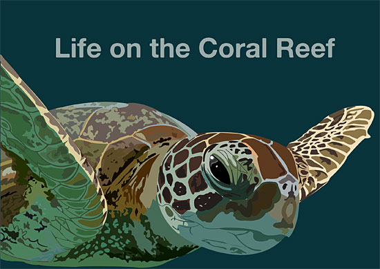 Coral Reef vector poster by Richard McGowan