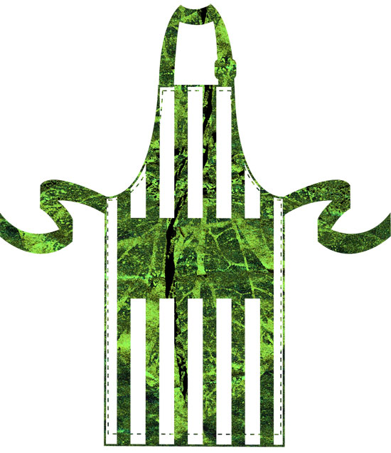 Design for an apron by Karl