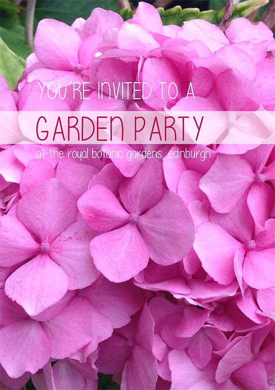 Garden Party invitation by Brooke McKenzie