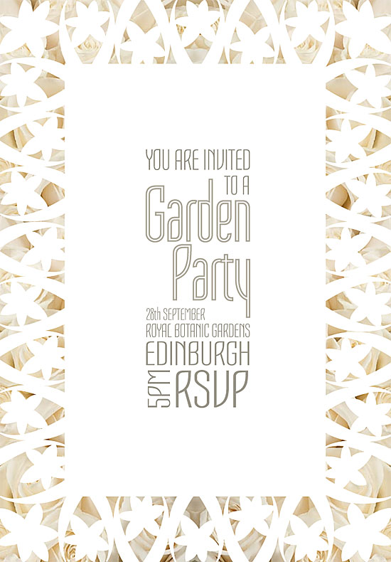 Garden Party invitation by Stacey Carnie
