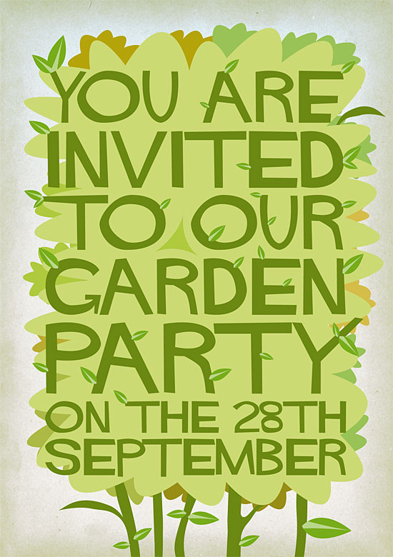 Garden Party invitation by Stuart Chalmers