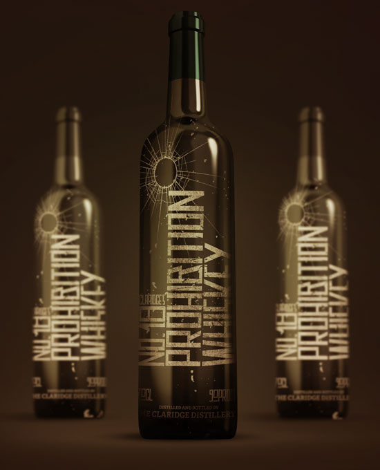 Prohibition Party bottle design by George Galbraith