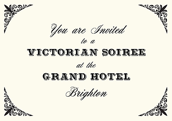 Victorian Evening invitation by Mark Spence