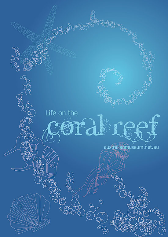 Coral Reef vector poster by Sara Tellez