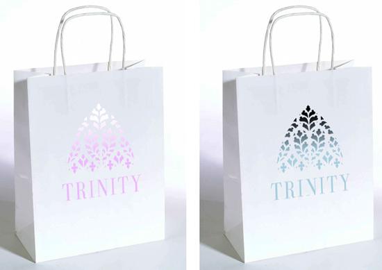 Gift bags for fragrance range by Mark Spence